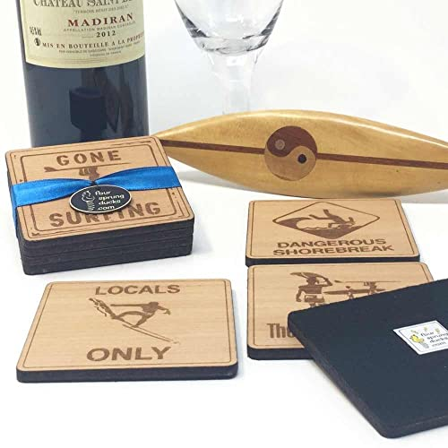 Surfer Coasters - Set of 4