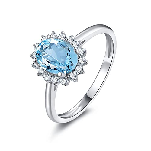 38e3ffb5514a Blisfille Joyas Anillos Acero Inoxidable Mujer Corazones Grande Anillo de  Flower Anillo Oro Blanco con Diamante