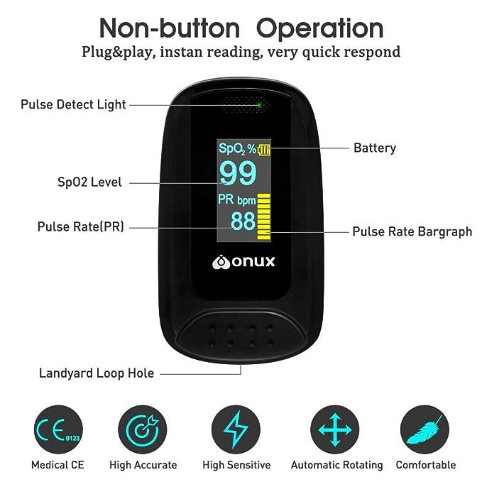 XNUO X5 de pulso oximetro de pulso de uso doméstico HD pantalla OLED giratorio Show lectura instantánea oxímetro de precisión CE aprobado con caja de regalo ...