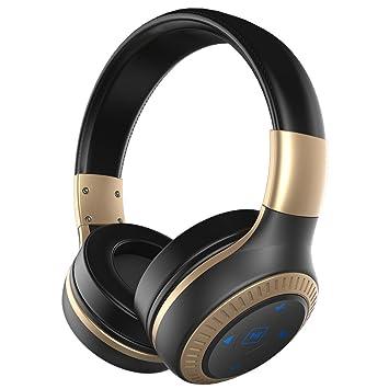 ZEALOT Auriculares estéreo B20 Bluetooth Headset 4.1 Auriculares inalámbricos Over Ear con entradas auxiliares de 3.5