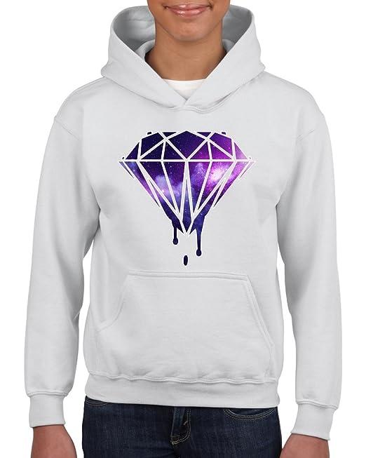Artix Galaxy Diamond Unisex sudadera con capucha para niñas y niños jóvenes para hombre (tamaño pequeño), color blanco: Amazon.es: Ropa y accesorios