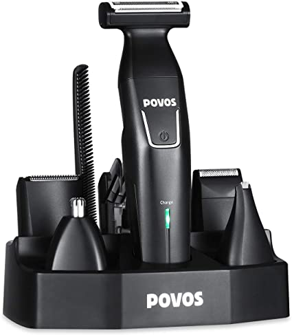 Cortapelos eléctrico Povos 5 en 1 recortadora de barba Body ...