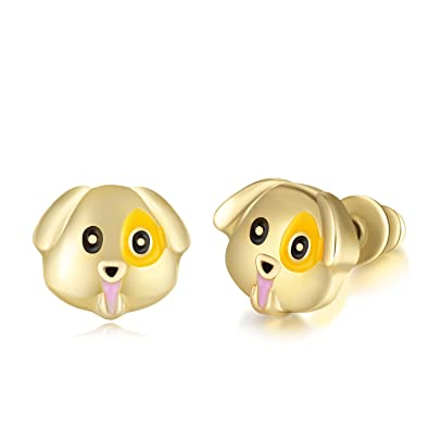 Amazoncom Minghua Cute Alloy Dripping Dog Stud Earrings Creative
