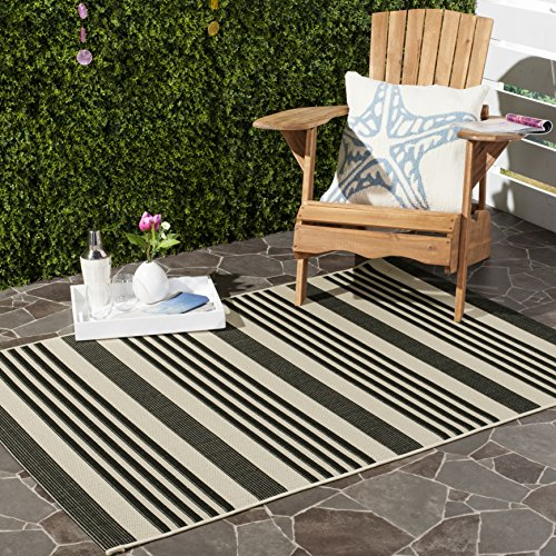 12x12 Bone (Safavieh Courtyard Collection CY6062-216 Black and Bone Indoor/Outdoor Area Rug (9' x 12'))