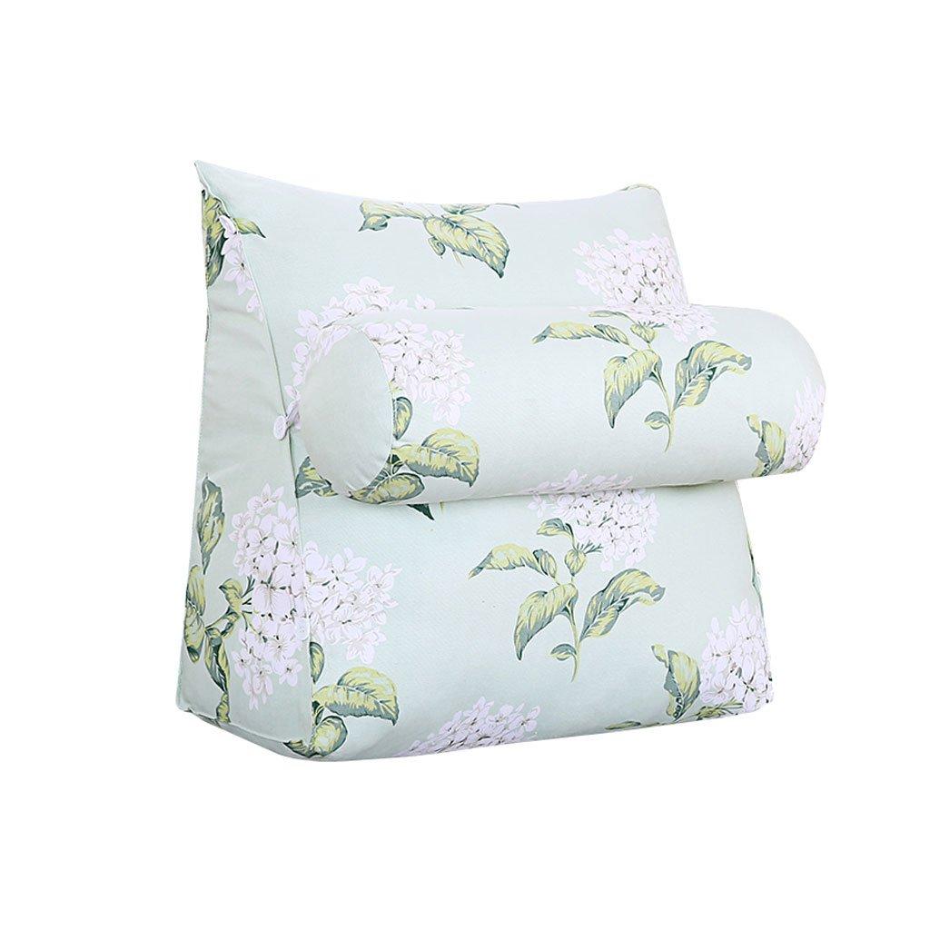 HN Bed pillows Sofa Bed Headrest Bedside Triangle Pillow Lumbar Pillow With Headrest Backrest Waist Pads Bed Soft Pack Office Pillow Bay Window Cushion Back Printing (Size : 45cm20cm50cm)