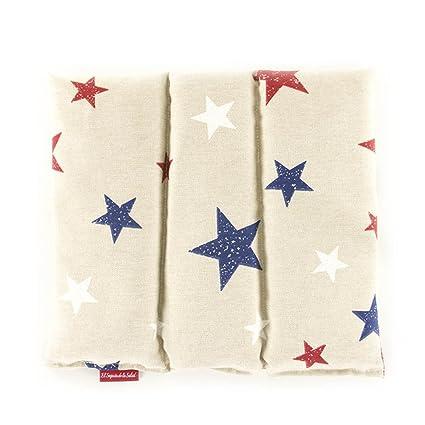 Saco Térmico de Semillas aroma Lavanda, Azahar o Romero tejido Gris con Estrellas (Sin