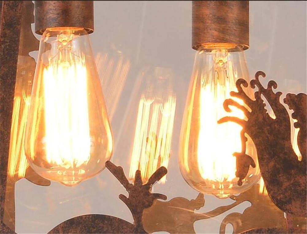 Plafoniere Per Forni Industriali : Lampadario plafoniere a sospensione retrò vintage