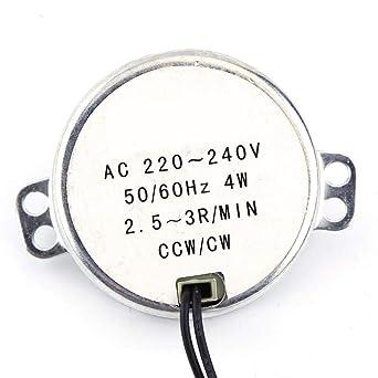 5-6RPM Motoriduttore Motore elettrico Motore sincrono Meccanismo di ventilazione 1pc 220-240V AC Motore sincrono a coppia elevata Lampade Illuminazione per artigianato
