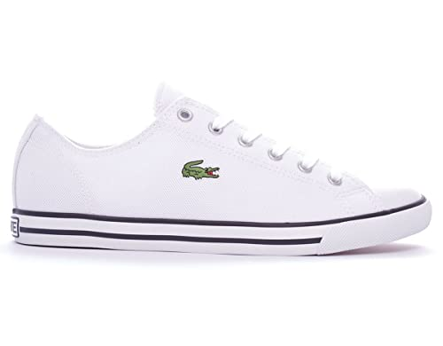 Lacoste L27 SRM - Zapatillas de Lona para Hombre Blanco Blanco Blanco Size: 46: Amazon.es: Zapatos y complementos