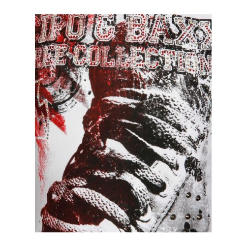 Cipo & Baxx Herren Free Collection Sneaker T-Shirt mit Strasssteinen weiß 2XL