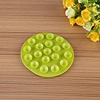Orange Creative Childrens Tableware Sucker Baby Kids Magic Suction Mat Portable Double-Sided Suckers Anti-Slip Plate Bowl Cutlery Placemat