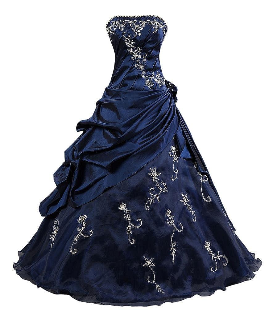 Kmformals Damen Formales Abschlussball Kleid Ballkleid Prom Kleider MDE037