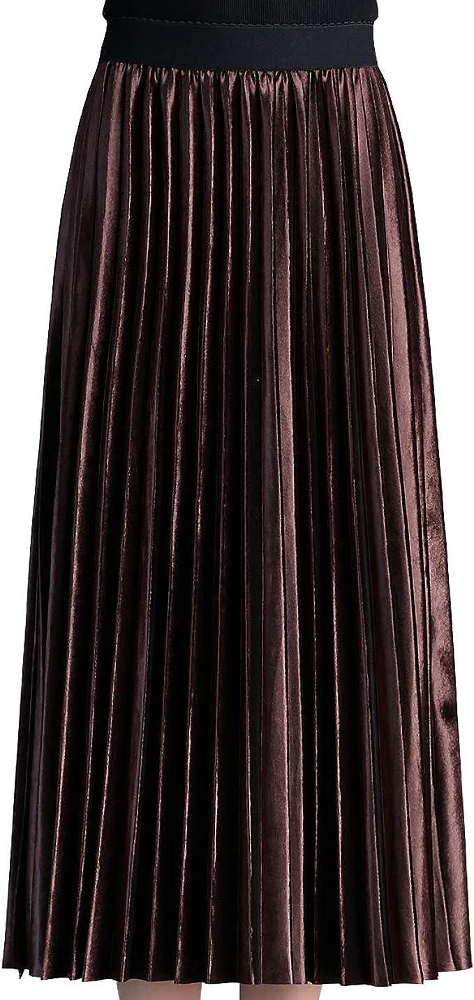 E-Girl - Falda - Trapecio o Corte en A - para Mujer marrón Oscuro 40 ...