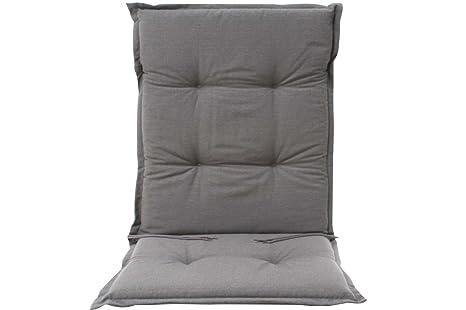 Cuscini Con Schienale Per Sedie Da Esterno : Cuscino sedia da giardino borkum uni antracite con schienale basso