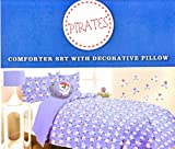 Pirates Twin size Comforter Set with Decorative Pillow & Wall Decals