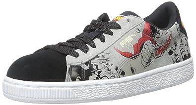 Boys Black Suede Puma Sneakers Wide 5.5 NEW