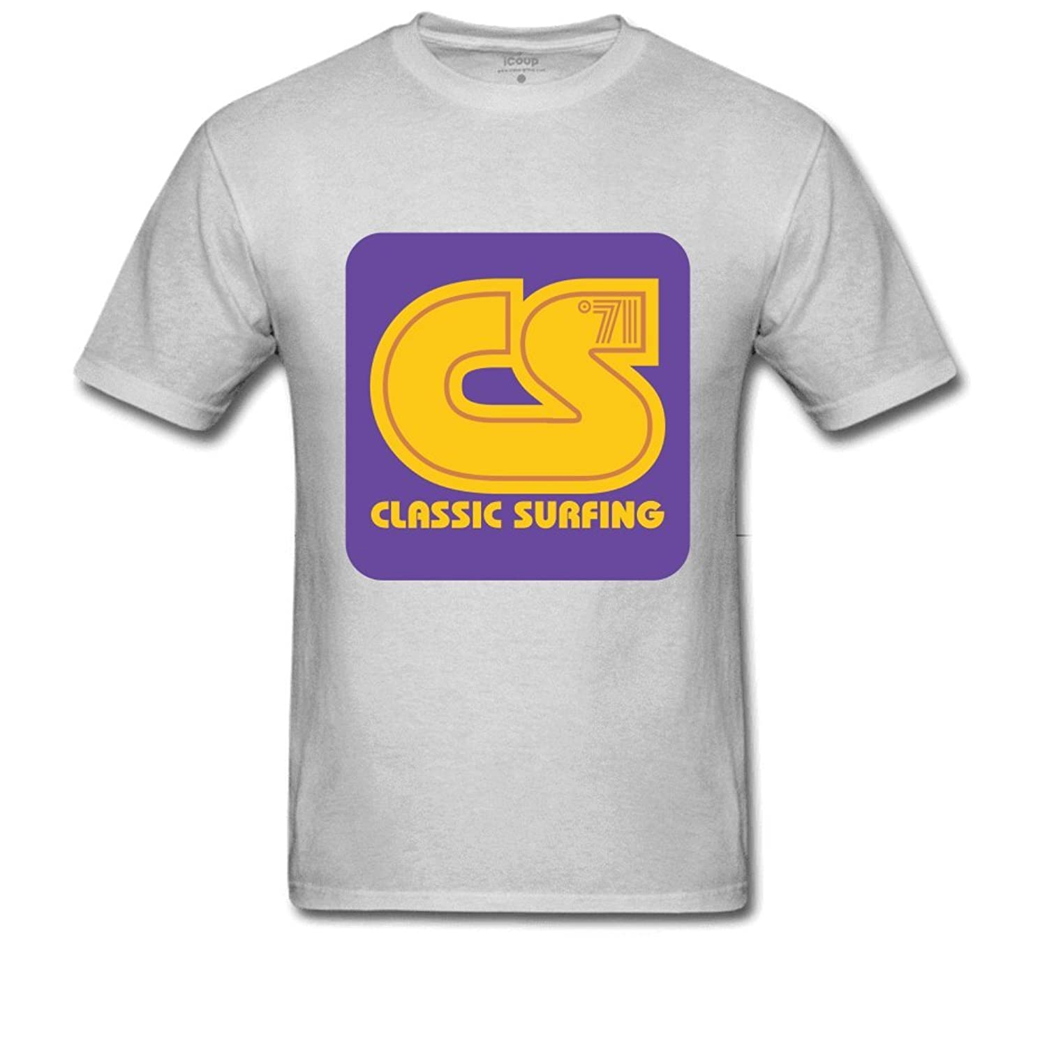 Classic Surfing Men's Printed T Shirt S Gray
