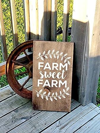 Amazon.com: Adonis554Dan - Cartel de madera rústico para la ...