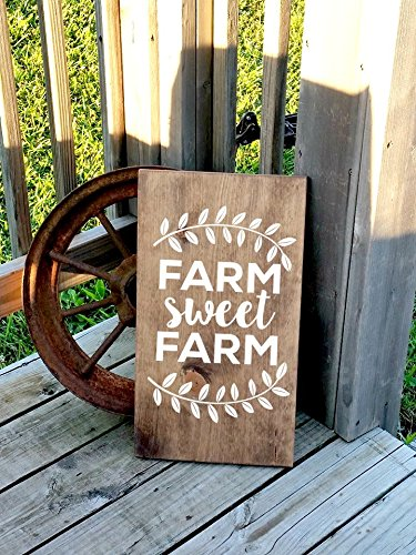 Adonis554Dan Farm Sweet Farm - Cartel de Madera para casa de ...
