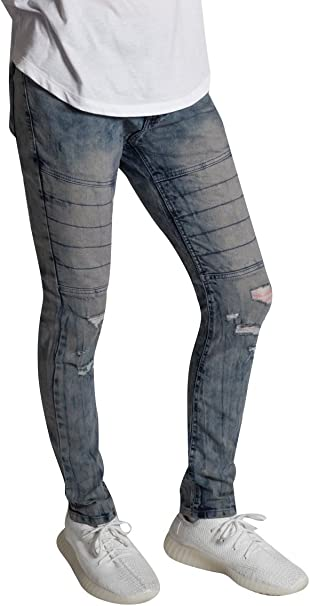 KDNK Moto Skinny Stretch Denim Jean Pants