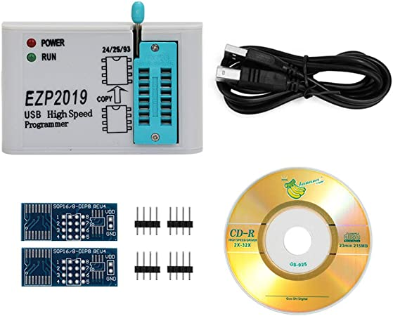 LIGHTHINKING 5sets EZP2010 high-Speed USB SPI Programmer support24 25 93 EEPROM 25 Flash bios chip