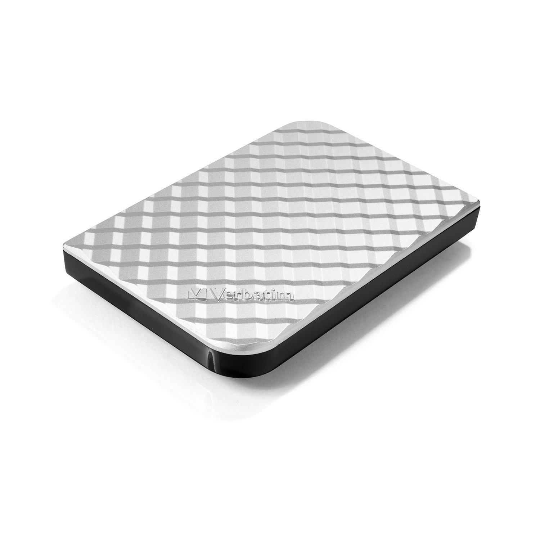 Verbatim 1TB Portable Hard Drive, - Store'n'Go - USB 3.0 - Compatible with USB 2.0 - PC / Mac - Diamond Silver