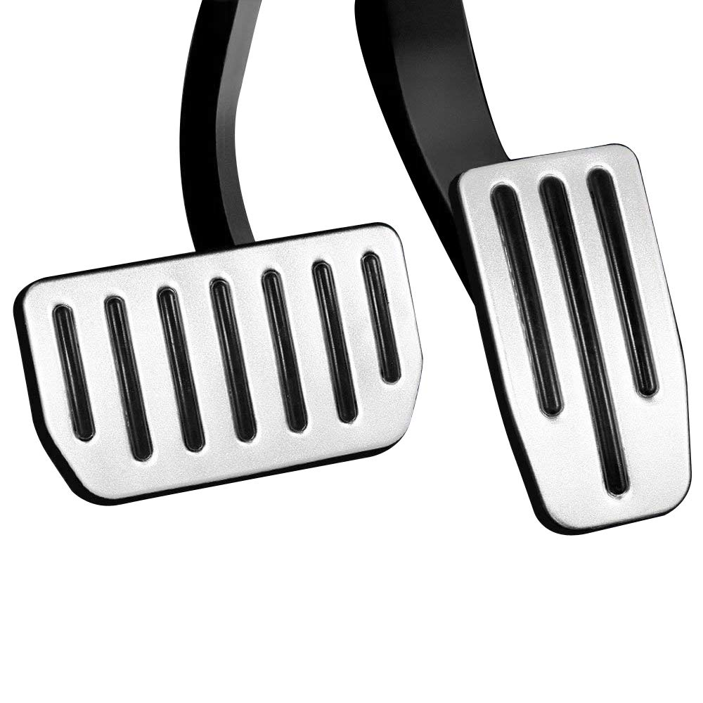 Anti-Slip Gas Brake Pedal, Auto Aluminium Accelerator Brake Pedal Cover for Tesla Model 3(A Set of 2) (Model 3) SUMK