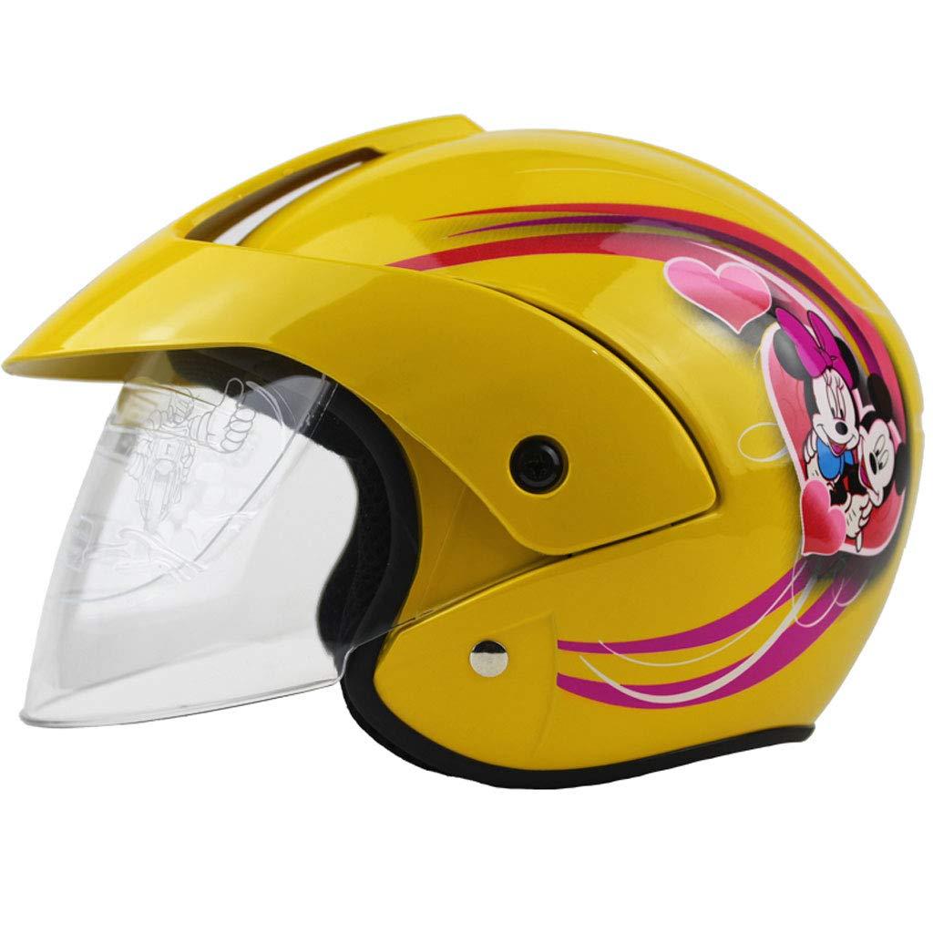 NJ casco- Casco da bambino Electric Bicycle Cartoon Four Seasons Unisex Half Helmet (Colore : B-L29xH19cm)