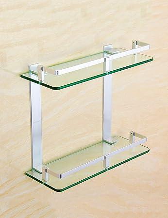 Extrem feste Duschregal Aluminium-Glas Regal Badezimmer Regale ...