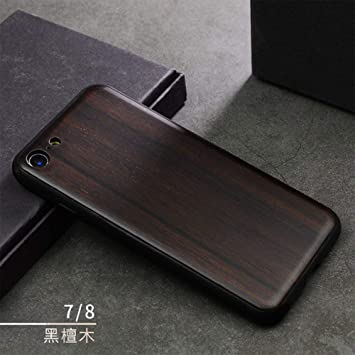 JINYIWEN Caja del teléfono móvil Madera iPhone 7 8 7Plus 8Plus ...
