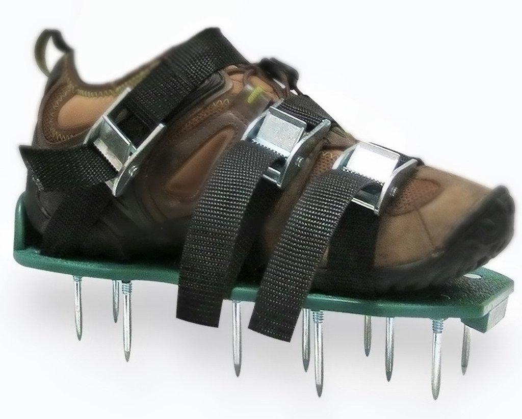 Premium Garden Aerator Shoes by Arudge – With Metal Spikes, Universal Fit