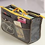 EYX Formula Multifunctional thick Double zipper travel bag for storaging,Grey Wash Cosmetic Bag for sorting Traveling
