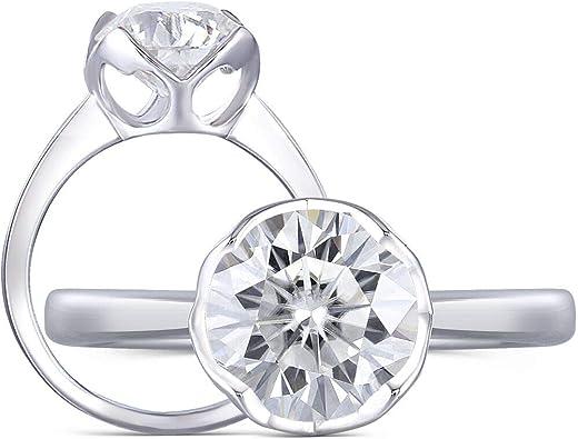 1.5 ct Three Stone Plus Ring Top CZ Imitation Moissanite   Sterling Silver Sz 9