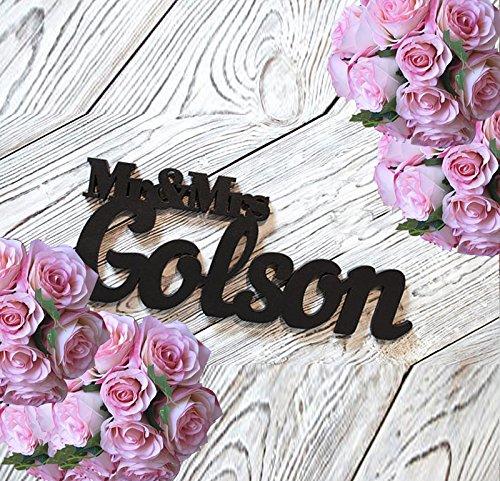 Amazon.com: Mr & Mrs apellido mesa de boda cartel signo de ...