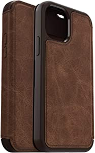 OtterBox Strada Series Case for iPhone 12 & iPhone 12 Pro - Espresso (Dark Brown/Worn Brown Leather)