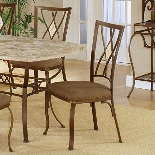 Hillsdale Brook Diamond Back Fabric Dining Chair in Brown (Set of 2) (Hillsdale Fabric Chair)