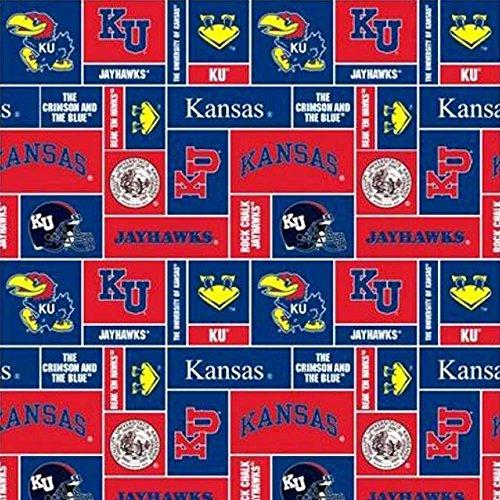 (University of Kansas Jayhawks Fleece Fabric - 60