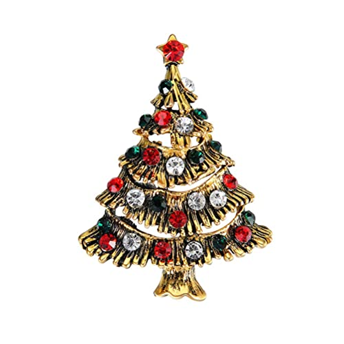 OULII Weihnachtsbaum Brosche Pin Farbe Kristall Pflastern Breastpin ...