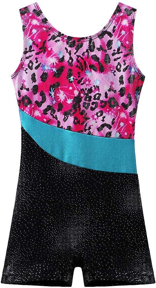 BAOHULU Leotard for Girls Gymnastics Toddler Sparkle Stripes Tank Biketards One Piece: Clothing