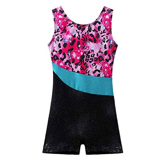 52b71785be3c BAOHULU Toddlers Girls Gymnastics Dance Leotards-One-piece Sparkle Stripes  & Stiching Athletic Clothes