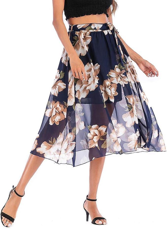 Sylar Faldas Mujer Cortas Faldas Plisadas Cintura Alta Faldas ...