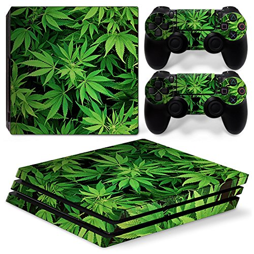 FriendlyTomato PS4 Pro Console and DualShock 4 Controller Skin Set - Weed 420 - PlayStation 4 Pro Vinyl