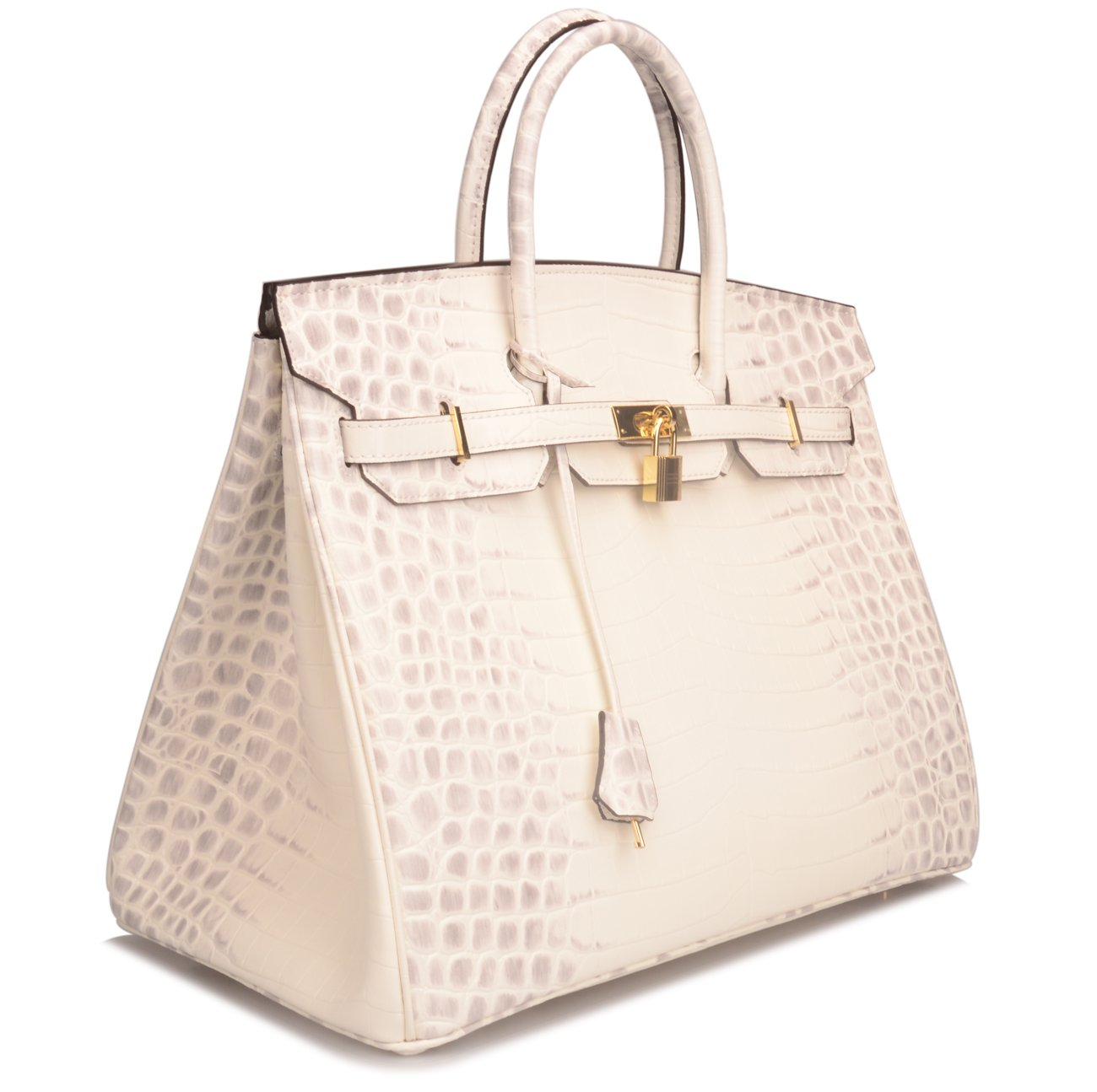 Ainifeel 40cm Oversized Patent Leather Padlock Handbag Business Purse (40cm OVERSIZE, Himalayan) by Ainifeel (Image #3)
