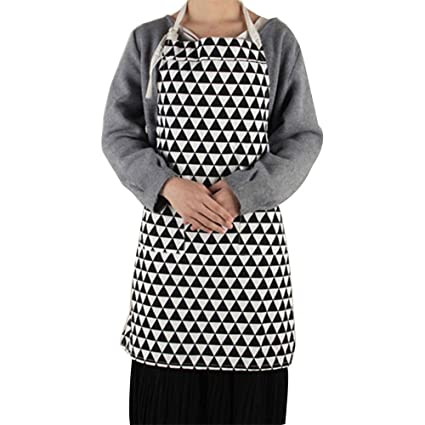 Mantel de cocina Delantal para mujer, 100% algodón, lovely Simple doble bolsillo cocina