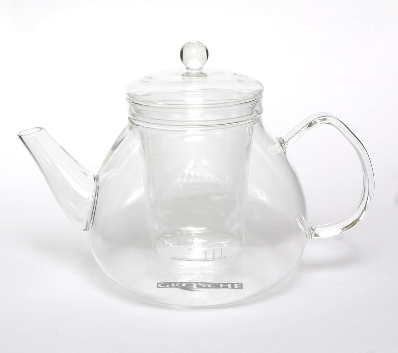 GROSCHE GLASGOW Glass Teapot with Infuser 1000 ml 34 Fl Oz capacity