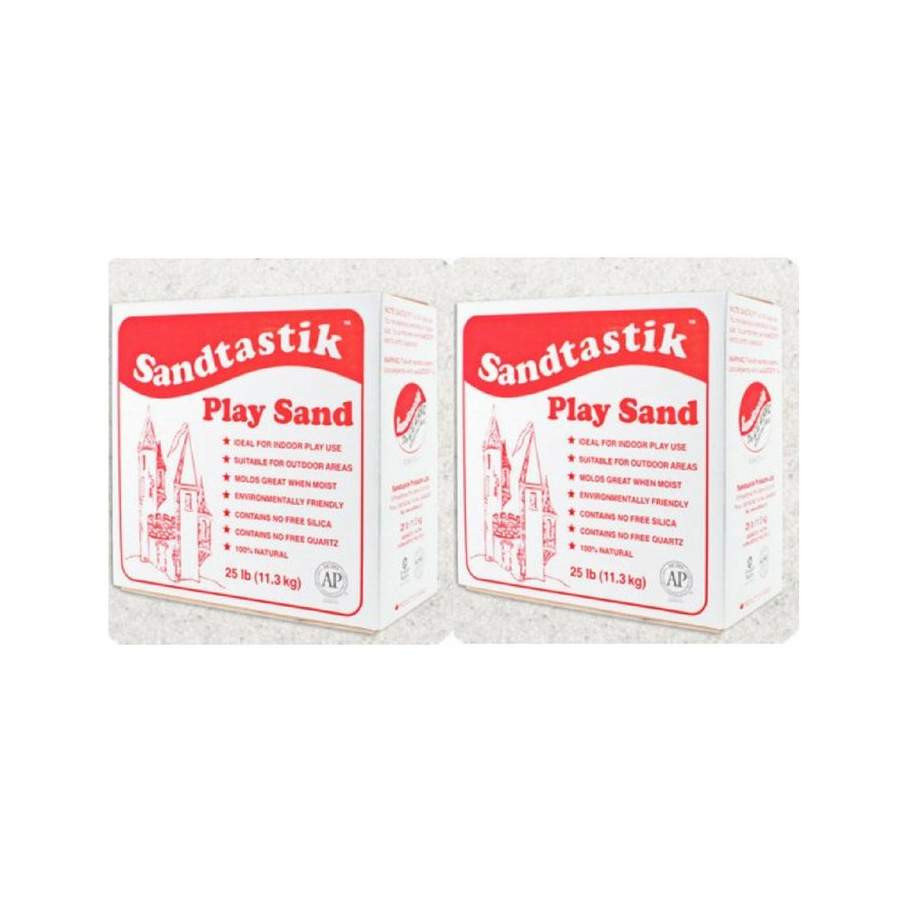 Sandtastik 358470 25 LB BOX REG Play Sand, White Sandtastik Products