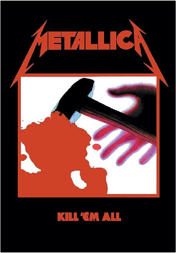 Metallica Póster Bandera Kill em All: Amazon.es: Hogar