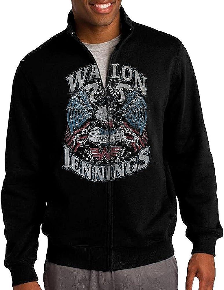 Waylon Jennings Mens Lonesome Slim-Fit T-Shirt Black