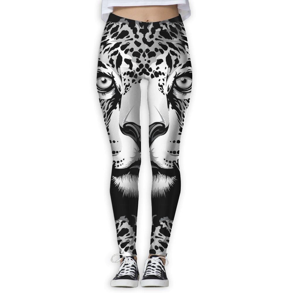 Doppyee Painting Jaguar Printing Compression Leggings Pants Tights For Women S-XL