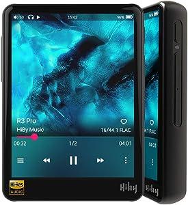 HiBy R3 Pro Portable Hi-Res Music Player, Hi-Fi Lossless MP3 Player with Bluetooth 5.0/aptX/FLAC/DSD/LDAC/MQA/5G WiFi/Dual DAC, High Resolution Audio Player Full Touch Screen - Aluminum Alloy Black